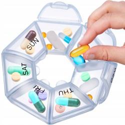 Pojemnik na leki kasetka pudełko na tabletki 7 dni cały tydzień organizer