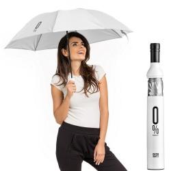 Bezalkoholowa parasolka czyli ukryty składany parasol w butelce czarny srebrny