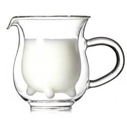 Dzbanek na mleko mlecznik kubek dla dzieci prosto od krowy szklany
