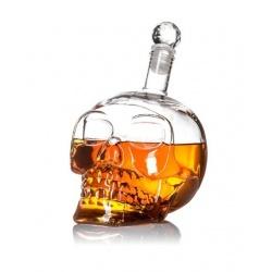 Ekskluzywna męska karafka na whiskey w kształcie czaszki kryształowa czaszka
