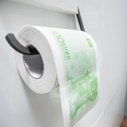 Papier toaletowy pieniądze 100 Euro XL rolka jednostronny nadruk
