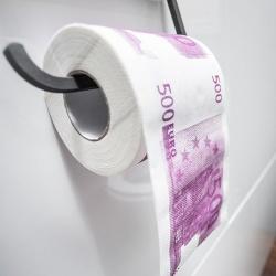 Papier toaletowy 500 Euro długi XL rolka miękki prezent dla szefa nowy dom
