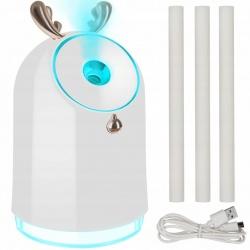 Nawilżacz powietrza akumulatorowy z dyfuzorem zapachu aromaterapia 3 wkłady