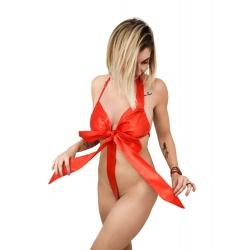 Sexy kokarda rozwiąż mnie prezentyna kostium damski dla kobiety EASY WEAR