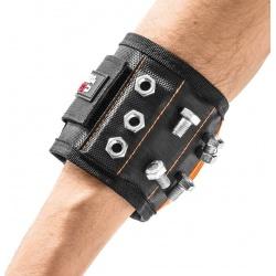 Magnetyczna opaska majsterkowicza z kieszonkami organizer na śrubki na rękę