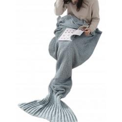 Koc ogon syrenki szary ciepły przyjemny w dotyku dyży rozmiar 225cm