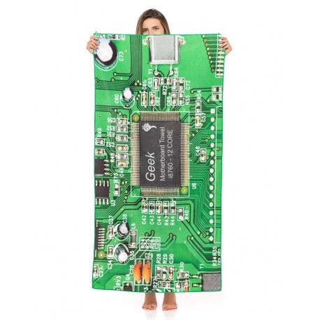 Ręcznik kąpielowy plażowy informatyka elektronika płyta główna z mikrofibry