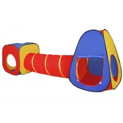 Namiot iglo do zabawy domek dla dzieci 3w1 tunel do przechodzenia 4 wyjścia