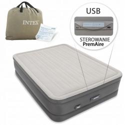 Materac dmuchany sterowany elektronicznie  ładowarka USB INTEX 64770