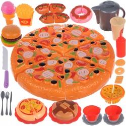 Fast food pizza zestaw zabawkowy do krojenia na rzep naczynia kubki sztućce