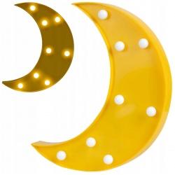 Lampka nocna księżyc do pokoju dziecięcego zasilanie bateriami do powieszenia