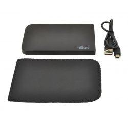 """Obudowa dysku 2,5"""" Mini USB SATA z pokrowcem skórzanym UASP"""