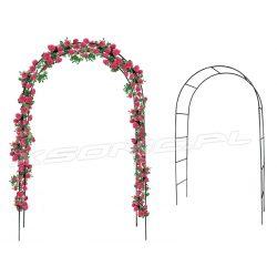 Pergola ogrodowa łuk przejście metalowa 2,4x1,45m na kwiaty róże