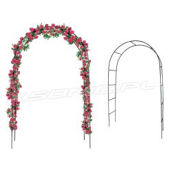 Pergola ogrodowa łuk przejście metalowa 2,4x1,45m na kwiaty