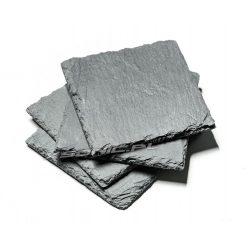 Kamienne podstawki 4 sztuki pod szklanki kufel kubek wysokiej jakości naturalnego łupka