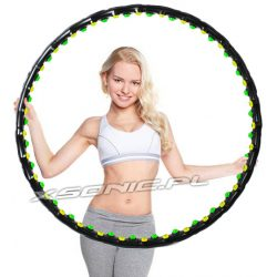 Koło magnetyczne Hula Hop wyszczuplające składane podwójny masaż 64 kulki
