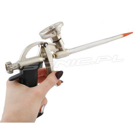 Pistolet metalowy do pianki montażowej regulowany strumień