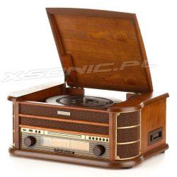 Odtwarzacz CD kasety gramofon radio FM drewniana obudowa Retro HYUNDAI RTCC-513RIP