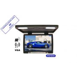Monitor podsufitowy z podświetleniem LED o przekątnej 15 cali HD Ready NVOX wejście VGA transmiter IR FM