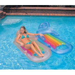 Materac do opalania i pływania z oparciem oraz podłokietnikami King Cool 160 x 85cm