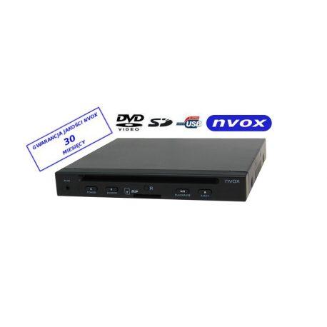 Samochodowy odtwarzacz DVD NVOX wielkość 1/2 DIN złącze USB SD zewnętrzny czujnik podczerwieni IR