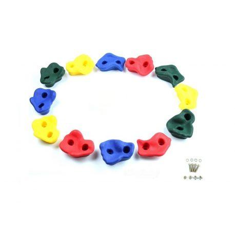 Kamienie do wspinaczki zestaw 8 sztuk idealne na plac zabaw śruby mocujące w zestawie