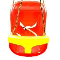 Huśtawka kubełkowa dla dzieci z barierką i pasami do domu i ogrodu lina w zestawie