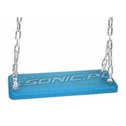 Huśtawka metalowa wandaloodporna ze stopów aluminium pokryta gumą na place zabaw na łańcuchach