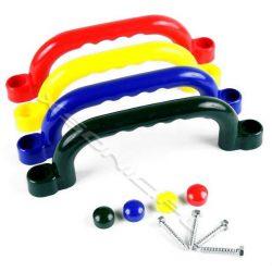 Rączki na plac zabaw uchwyty do wchodzenia i trzymania wymiar 250 mm x 75 mm 2 sztuki różne kolory