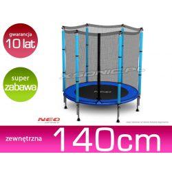 Bezpieczna trampolina batut z siatką 140cm 10 lat gwarancji dla dzieci