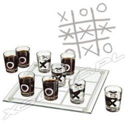 Gra imprezowa kółko i krzyżyk alkoholowa na imprezy kieliszki zestaw