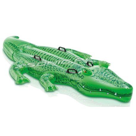 Aligator dmuchany do pływania 203 x 114 cm mocne uchwyty krokodyl INTEX 58562