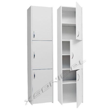 Słupek łazienkowy szerokość 30 cm podzielony na trzy szafki