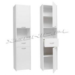 Słupek łazienkowy szerokość 30 cm dwie szafki oraz szuflada