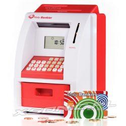 Skarbonka bankomat dla dzieci Mały bankier liczy odlicza rozpoznaje polskie monety kod PIN wpłata wypłata karta