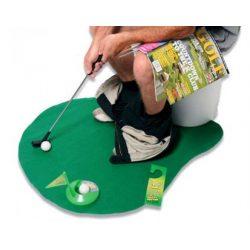 Toaletowy golf wytworny sport w toalecie komplet gra dla każdego