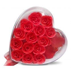 Różane impresje mydlane płatki róż mydło do kąpieli zapachowe