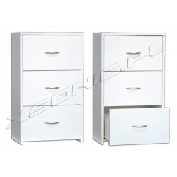 Szafka łazienkowa z trzema szufladami 40 cm biała