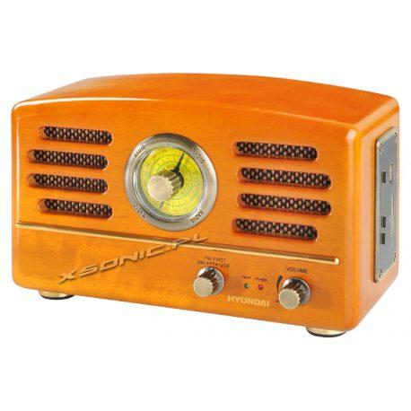 Radio AM/FM w stylu Retro z USB SD MP3 HYUNDAI