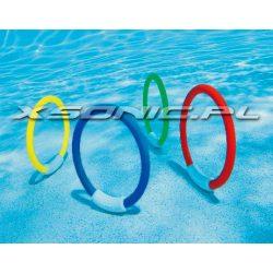 Komplet podwodnych Ringów 4 sztuki zabawka basenowa do nurkowania INTEX