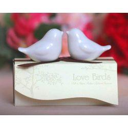 Porcelanowe przyprawniki zakochane gołąbki pojemniki na przyprawy
