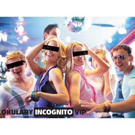 Okulary Incognito VIP-owski gadżet na każdą imprezę czarne