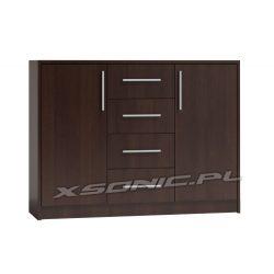 Komoda szafka do pokoju OLKA 2D+4S 120cm szuflady i szafki dąb Craft sonoma