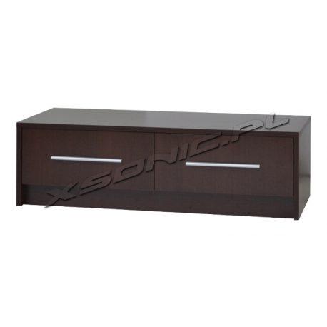 Stolik pod telewizor OLKA 2S 100cm dwie duże szuflady wenge śliwa dąb sonoma czarny biały miks kolorów