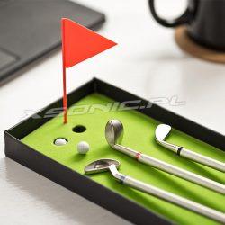 Zestaw długopisów kije i pole golfowe do pracy 3 długopisy golfisty zestaw do grania i pisania