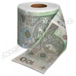 Papier toaletowy banknot 100 zł rolka XL długi miekki