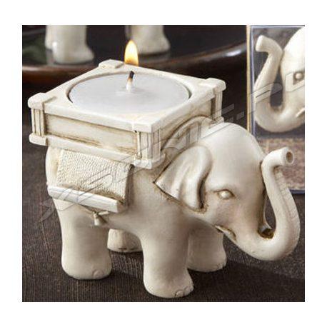 Słonik świecznik na szczęście piękny słoń