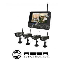 Bezprzewodowy zestaw do monitoringu Reer Electronics 4 kamery funkcja nagrywania na SD/HDD