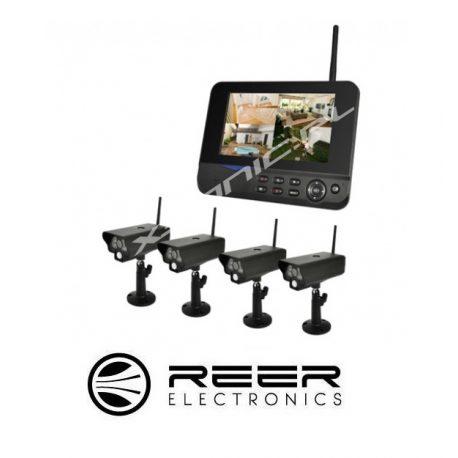 Bezprzewodowy zestaw do monitoringu Reer Electronics - 4 kamery/funkcja nagrywania na SD/HDD