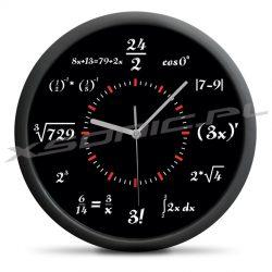 Zegar dla matematyka matematyczny czas różne równania do rozwiązania